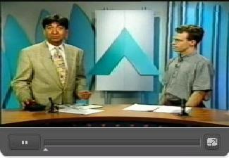 Elektronik bremst Raser funkgesteuert - vom 23.8.1996 im Augsburg TV