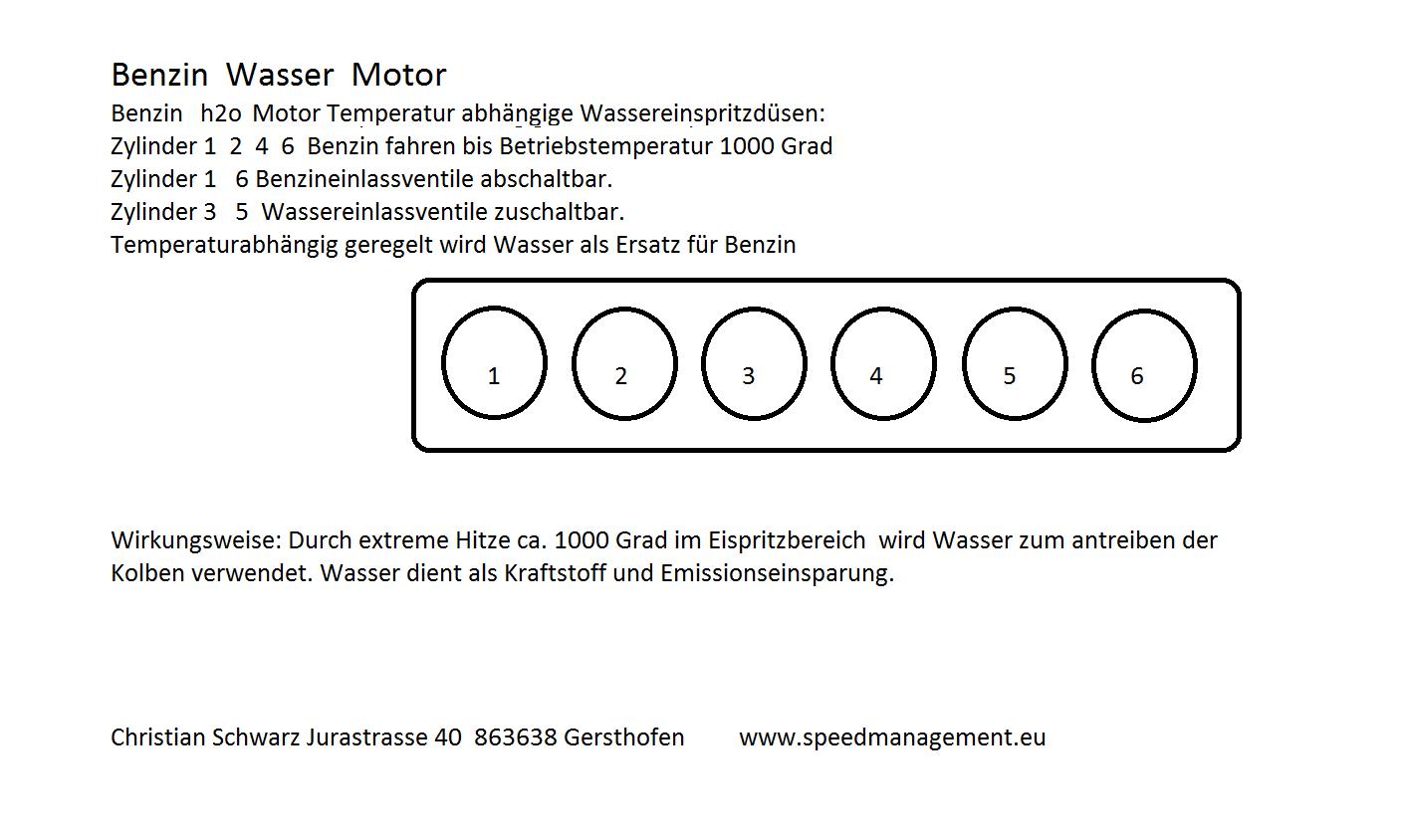 Christian Schwarz und der Benzin-Wasser-Motor